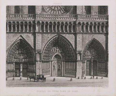 France. Portail de Notre-Dame de Paris