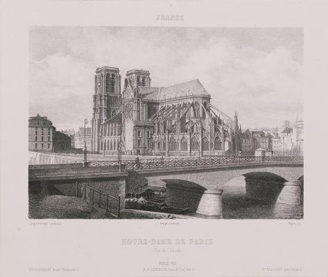 France. Notre-Dame de Paris (Vue de l'abside)