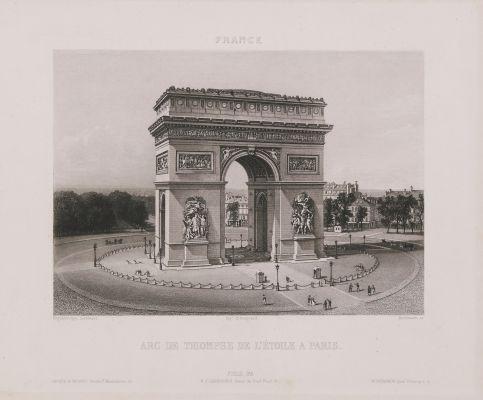 France. Arc de Triimphe de l'Etoile à Paris