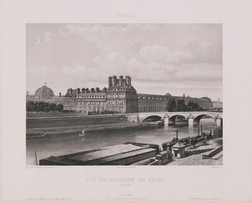 France. Vue du pavillon de Flore. Tuileries