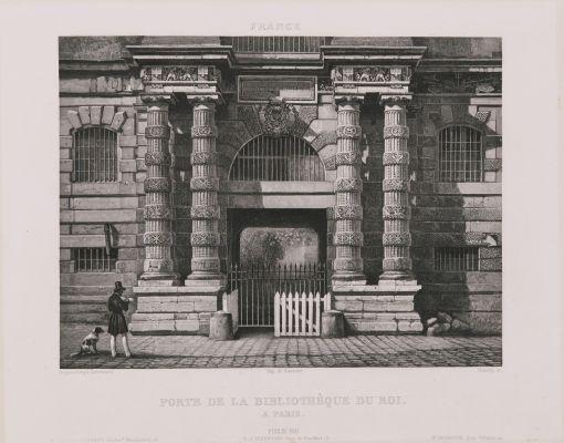 Porte de la bibliothèque du roi à Paris