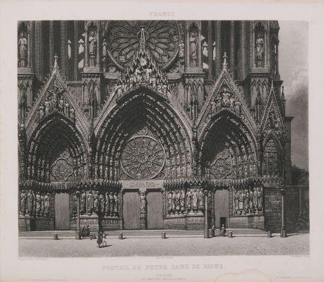 France. Portail de Notre-Dame de Reims
