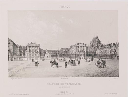 France. Château de Versailles. Cour d'honneur