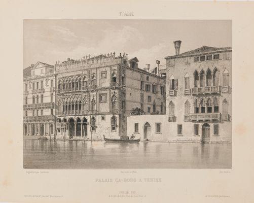 Italie. Palais Ca-Doro à Venise