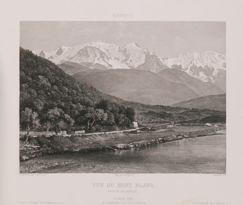 Savoie. Vue du Mont Blanc prise de Sallanches
