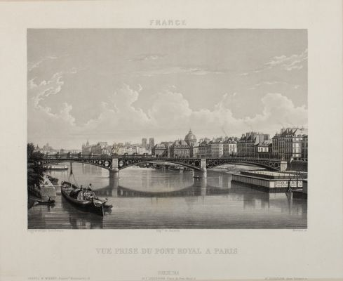 Vue Prise du Pont Royal a Paris