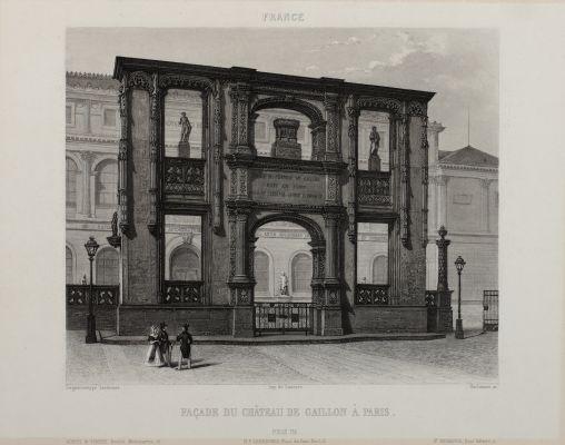 Façade du Château de Gaillon À Paris