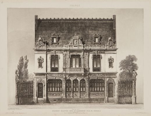 Maison Elevée rue St. Georges par M. Renaud