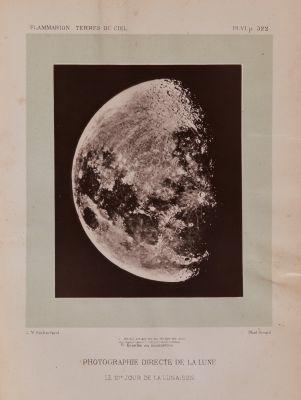 Photographie directe de la lune