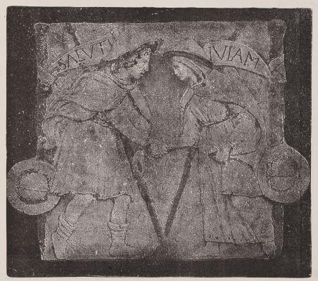 Chemin du salut, frise, par Luca della Robbia