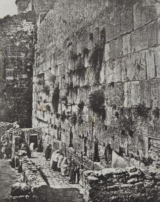 Soubassements du Temple. Lieu ou les Juifs Viennent Pleurer Jérusalem