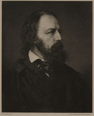 Alfred, Lord Tennyson (The favourite portrait, based on a photograph by Mayall)