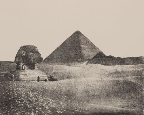 Plate I. The Great Pyramid and Sphynx