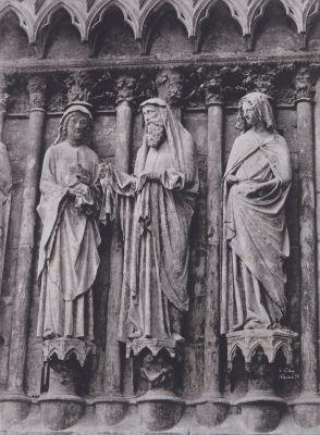 Cathedrale de Rheims, Sculptures de la Visitation