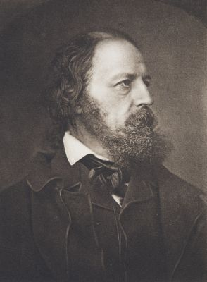 Alfred Tennyson from the photograph by John Mayall
