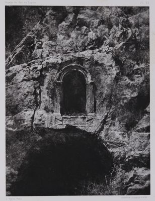 PL. 63 Banias: Niche Pres de la Grotte de Pan
