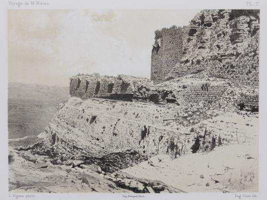 PL. 7 Karak. Vue du Grand Birket En-Nasser et du Fossé Taillé Dans le Roc
