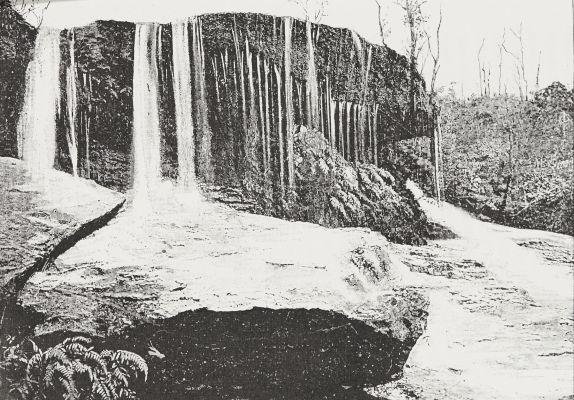 Le rocher qui pleure, près de Wentworth, dans les Montagnes Bleues