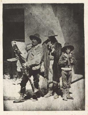 Pifferari Jouant de Leurs Instruments au 21 Quai Bourbon