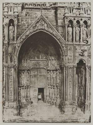Cathédrale de Chartres, porche méridional, porte de gauche