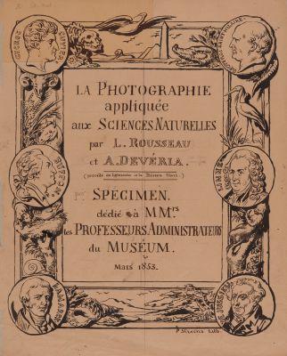 La Photographie appliquée aux Sciences Naturelles par L. Rousseau et. A. Devéria