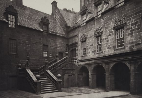 The Outer Court, with the Great Stair Leading to the Fore-Hall