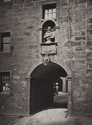 Archway in Inner Court, Looking towards the Outer Court, with Zachary Boyd's Bust
