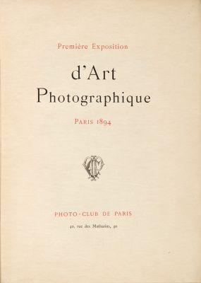 Première Exposition d'Art Photographique 1894