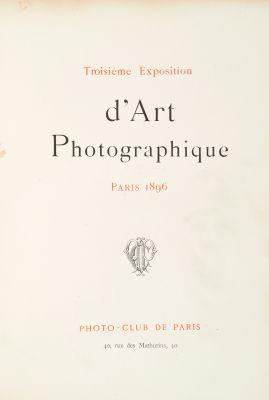 Troisième Exposition d'Art Photographique