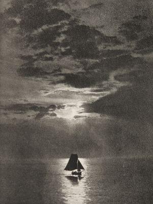 Clair de lune sur la mer