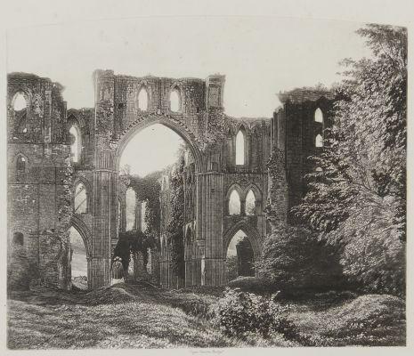 Rivaulx Abbey, the Choir and Transept.