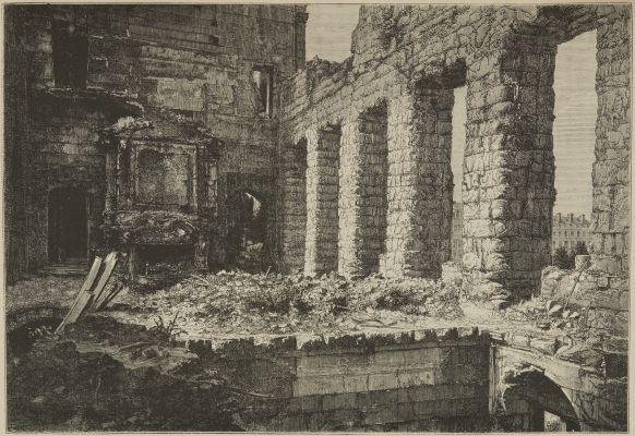 Ruines de la salle dn Trone, à l'Hotel de ville de Paris.