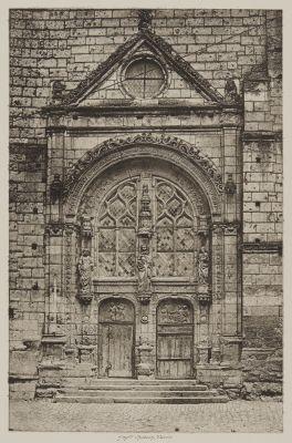 Tours. Portail de L'Eglise Saint Symphorien
