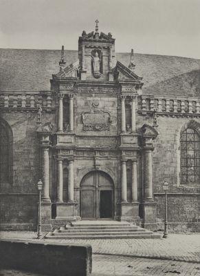 Auray (Morbihan) Eglise Saint-Gildas Portrait latéral Sud.