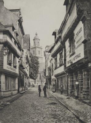Auray (Morbihan) La rue du Lait