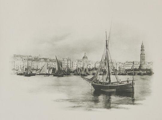 Alter Hafen von Neapel.