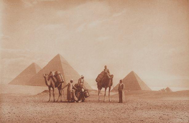 Die Pyramiden von Gizeh.