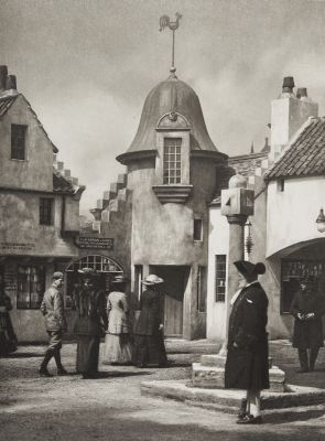 The Mercat Cross and Town Crier in the Old Scottish Street