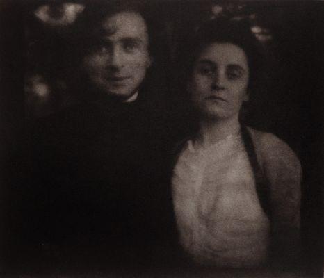 Steichen and Wife Clara on Their Honeymoon, Lake George, New York