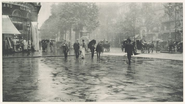 Wet Day on the Boulevard