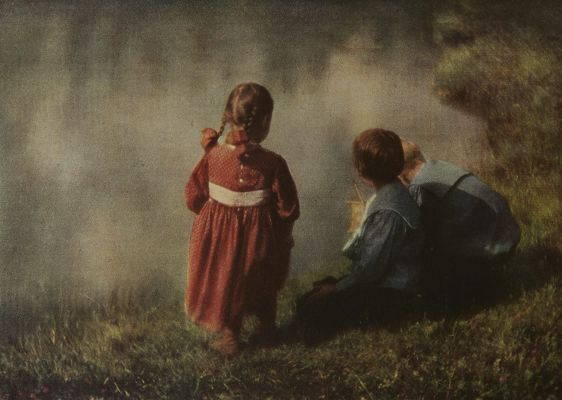 Playmates from an Autochrome
