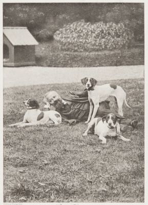 Paul Tannery el ses chiens de chasse 1902 manufacture des Tabaco-Pantin