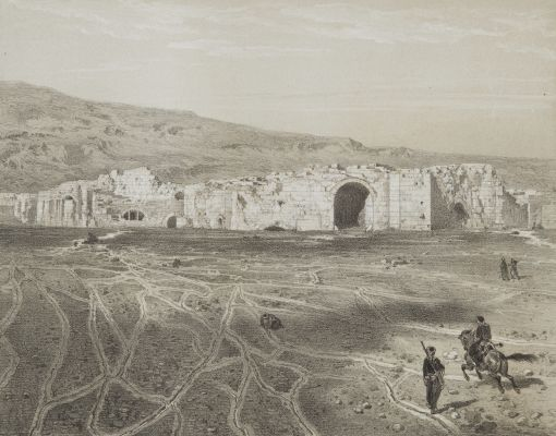 Hierapolis_PL 15 Platéau Pétrifié Envahissant Les Thermes – Vue prise au sud