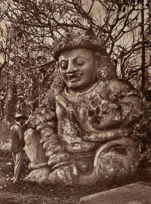 Colossal Figure at Singa-Sarie, Java