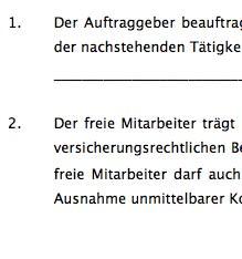 """Der Mustervertrag """"Freie-Mitarbeit-Vertrag"""" bildet die Grundlage einer geregelten Zusammenarbeit zwischen einem Unternehmen und einem freien Mitarbeiter."""