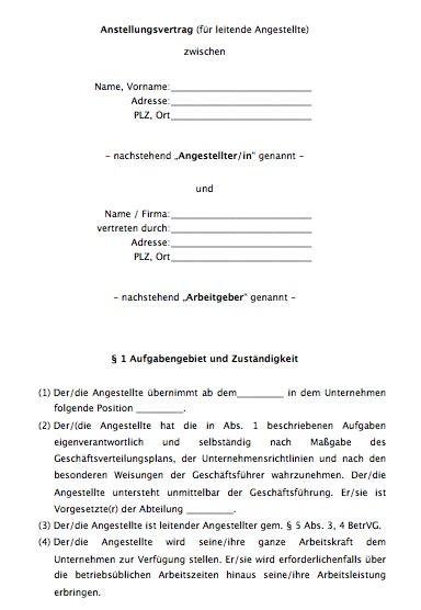 Der achtseitige Vertrag für die unbefristete Besetzung einer leitenden Position kann umgehend von Ihnen verwendet werden.