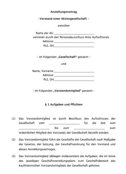 Der Vertrag ist von Anwälten erstellt und hat sich mehrfach in der Praxis bewährt. Die Aktiengesellschaft ist konzernunabhängig und nicht an der Börse notiert.