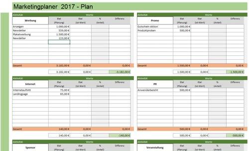 Machen Sie sich einen ersten Eindruck vom Excel-Tool