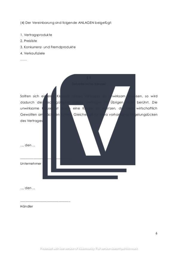 Provisionsvertrag zur Kundenvermittlung Unterschriftseite