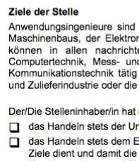 Diese Muster-Stellenbeschreibung für eine/n Anwendungsingenieur/in - International ist ein Beispiel dafür, wie eine typische Interessenlage zwischen teilnehmenden Parteien umgesetzt werden kann.